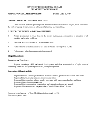 Plumber Resume Examples Cover Letter Plumbing Resume Templates Plumbing Resume Templates