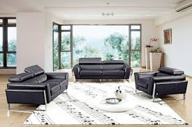 Leather Sofa Italian Modern Black Italian Leather Sofa Set