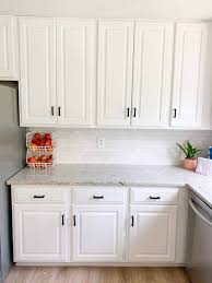 black kitchen cabinets with black hardware painting kitchen cabinets white kitchen reveal