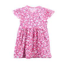 2017 flower dress baby cotton frocks design beautiful girls