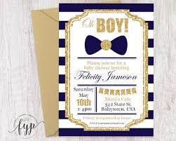 boy baby shower invitations navy and gold baby shower invitation boys baby shower invitation