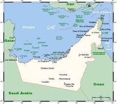 uae map geography of the united arab emirates