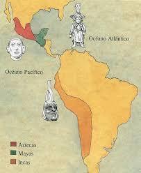 aztec mayan inca map aztec mayan and inca empires map collection