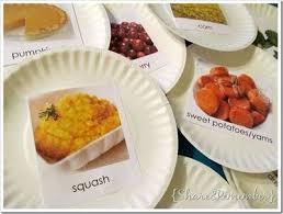 thanksgiving popular foods printables for drama