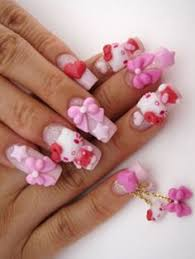 i wouldnt do the stiletto nails but the hello kitty is perfect