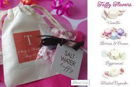 salt water taffy wedding favor unique edible wedding favors salt water taffy and fortune cookies
