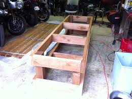 Easy Wood Workbench Plans by Motorcycle Work Bench Plans The Kind You Put Your Motorcycle On