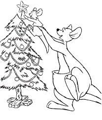 kangaroo decorating christmas tree christmas coloring page