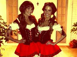 lea michele and goldie hawn wear dirndls to kate hudson u0027s