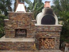 Pizza Oven Fireplace Combo by Outdoor Fireplace And Pizza Oven With Side Knee Wall Seating