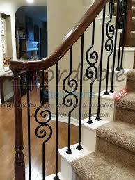 staircase wrought iron balusters staircase stair remodel