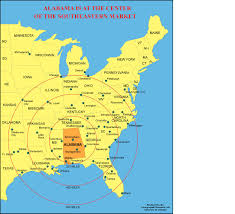 State Map Of United States by Alabama Outline Maps And Map Links
