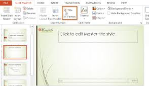 powerpoint 2013 slide master view full page
