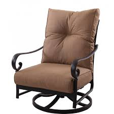Outdoor Aluminum Patio Furniture by Darlee Santa Anita Cast Aluminum Patio Swivel Rocker Club Chair