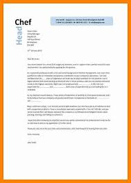 8 chef cover letter sap appeal