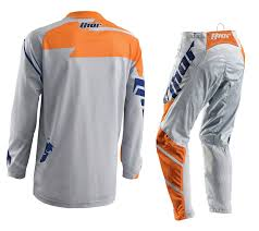 thor motocross gloves new thor mx gear set phase vented grey orange motocross pants