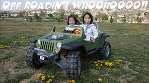 power wheels wheels jeep wrangler driving a 4x4 off road jeep wrangler hurricane ride on power