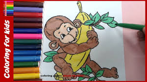 painting for kids how to color baby monkey colouring pages from