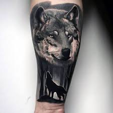shaded black and grey forest wolf ideas on