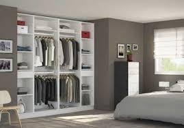 Amenager Chambre Adulte Gamme Crative Amenager Un Dressing Dans Une Chambre Niche Murale Avec Grand Ouvert