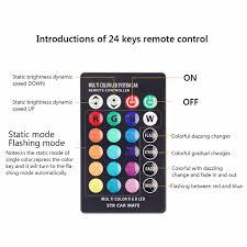 lat0338aa remote control t10 5050 car led bulb 6 smd multicolor