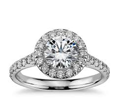 how much does an engagement ring cost halo diamond engagement ring in 14k white gold 1 2 ct tw