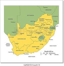 africa map with country names and capitals free print of south africa with administrative districts and
