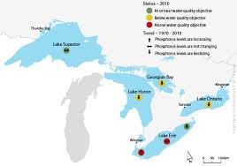 canadian map with great lakes despite clean up lakes still suffer from phosphorus pollution