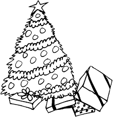 coloring page of christmas tree with presents christmas tree coloring pages getcoloringpages com