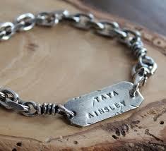 Personalized Silver Bracelets Men U0027s Personalized Silver Bracelet Men U0027s Custom