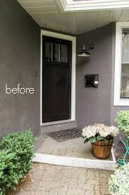 Painted Patio Pavers Front Porch Makeover With Painted Paver Stones So Much Better