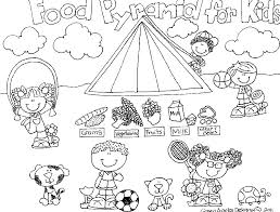 healthy food coloring pages preschool 20 best free food pyramid coloring pages for preschool home of