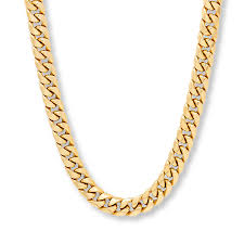 chain necklace mens images Men 39 s miami cuban chain necklace 10k yellow gold 22 quot length jpg