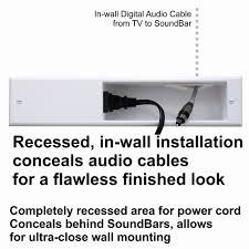 Cable Management System For Wall Mounted Tv Powerbridge Unique Solution For Sound Bar In Wall Wiring