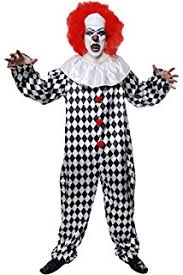 Halloween Costumes Scary Clowns Mens Scary Clown Costume Amazon Uk Toys U0026 Games