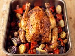 roasted whole chicken spanish style roast chicken recipe food republic