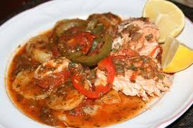 cuisiner du saumon au four recette tajine au saumon à la marocaine recettes maroc