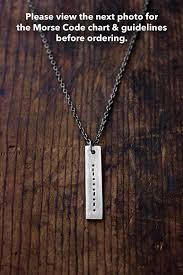 morse code necklace personalized morse code necklace secret message necklace men s