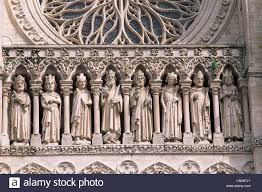 france somme amiens amiens cathedral detail of the kings