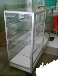 Rak Cermin wts glass shelves transparent for product display