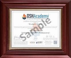 Occupational Health And Safety Resume Examples by Oshacademy 233 Hour Oil And Gas Safety And Health Professional