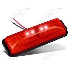 red led marker lights partsam 3 8 12v thin line red marker light clearance l boat
