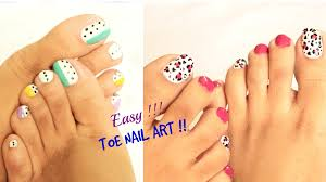 easy toe nail art designs easy and quick toe nail art designs