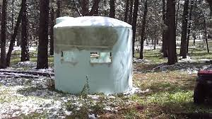 home made hunting blind youtube