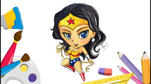 how to draw wonder woman cute step by step wonder woman coloring