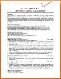 medical cv template careercenter wustl edu medical student cv