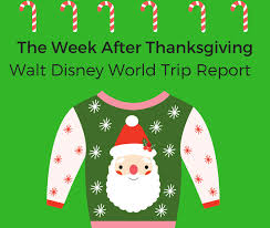 walt disney world trip report the week after thanksgiving