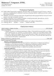 New Graduate Resume Sample by Inspiring Occupational Therapy Resume New Grad 19 In Resume Sample