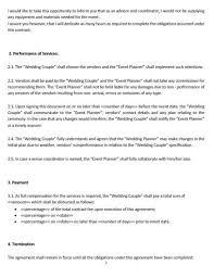 ne0268 wedding planning service letter of agreement template