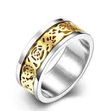 compare prices on titanium engraved rings men online shopping buy